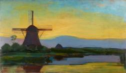 Oostzijdse molen bij avond - 1907-08