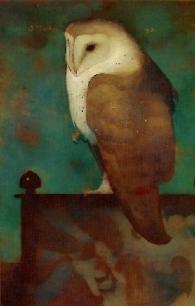 Jan Mankes - Grote uil op scherm - 1913