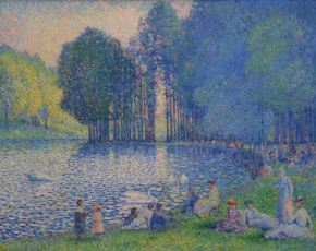 Henri-Edmond Cross - Zwanen in Bois de Boulogne - ca. 1899