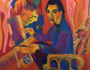 Jan Wiegers - Kirchner in atelier - 1925 - Groninger Museum