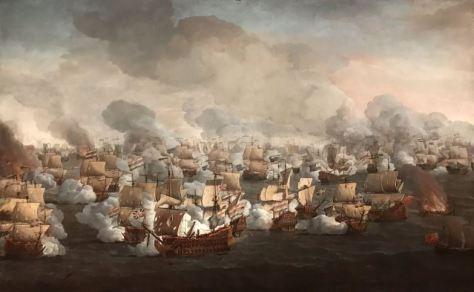 Willem van de Velde I - De slag bij Kijkduin - ca. 1673